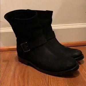 Black Suede Frye boots. Women's size 7.5